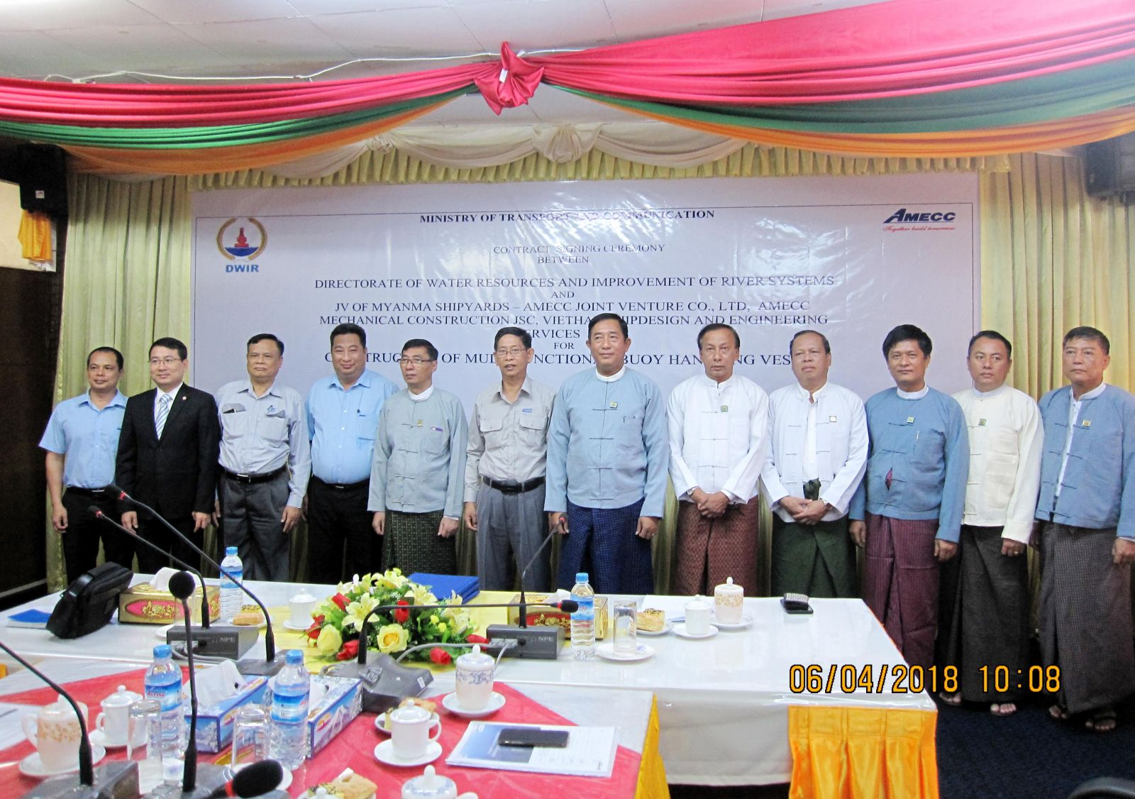 CONTRACT SIGNING CEREMONY HELD TO CONSTRUCT THE MULTIFUNCTIONAL BUOY
